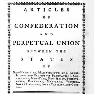 The Articles of Confederation/Constitutional Convention